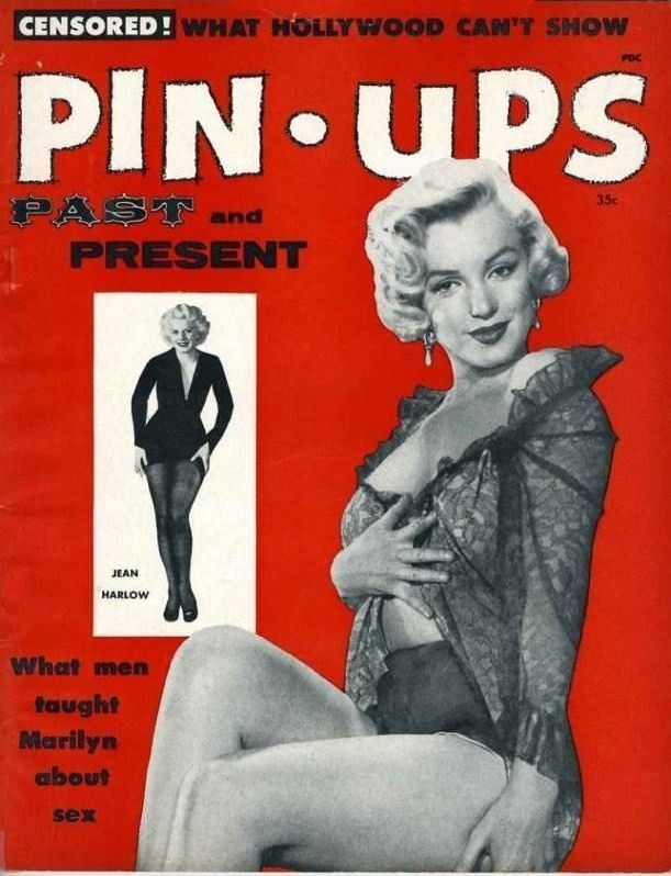 free run womens white leopard Marilyn Monroe on the cover of  quot Pin Ups Past and Present quot  magazine  USA  1955