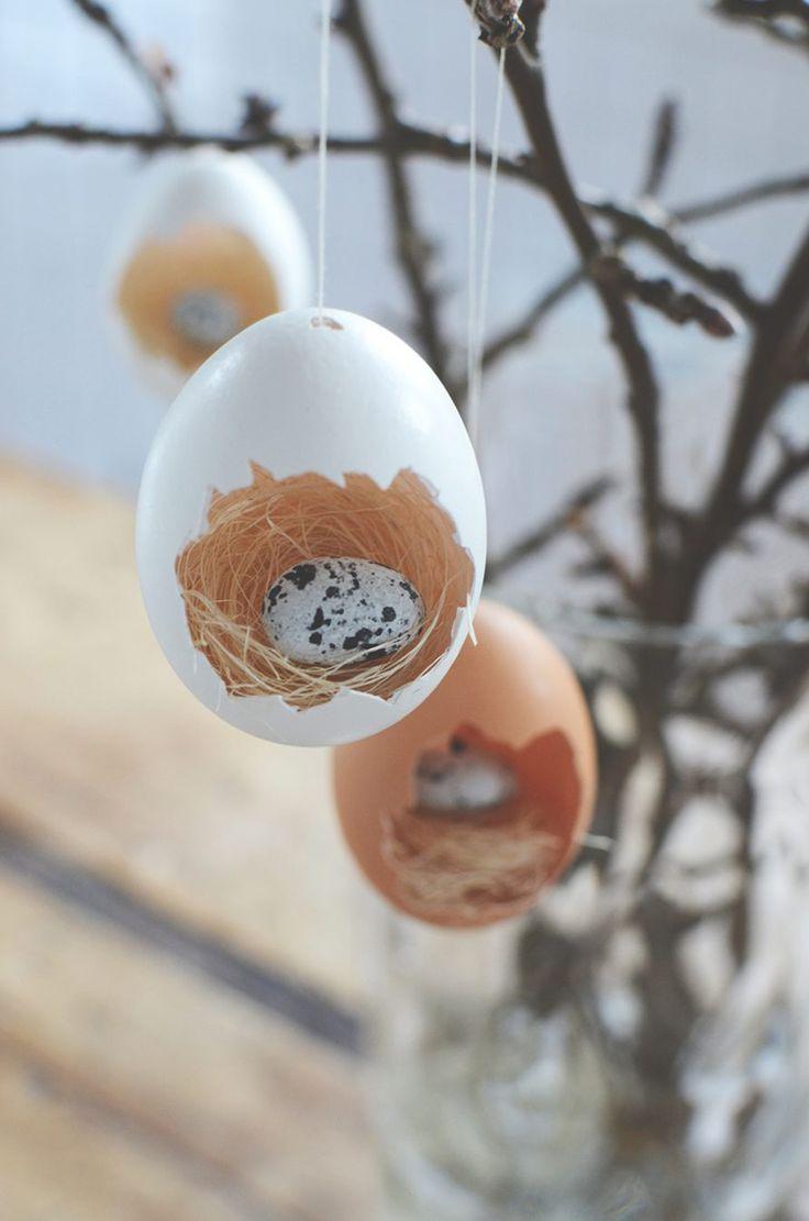 Гнезда с wydmuszek - украшения весенние и пасхальные