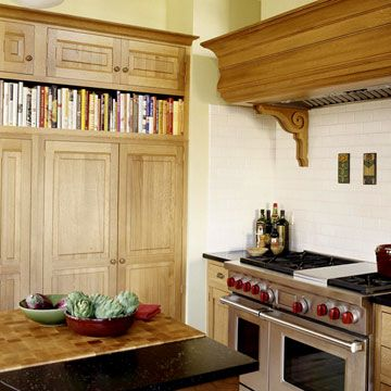 Not real crazy about the color wood but I do like the book shelf at the top..Book-shelf Style Pantry