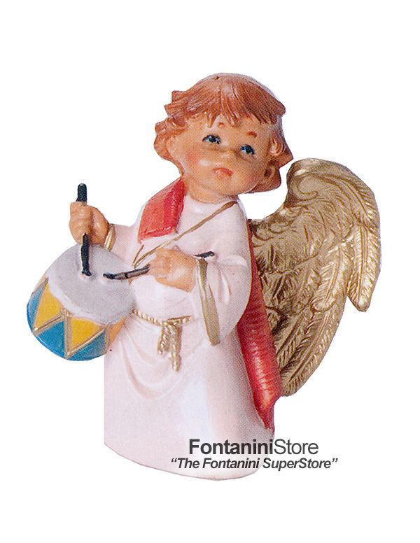 Signed 5 Inch Scale Anah the Little Drummer Angel by Fontanini