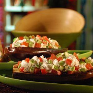 Platos Latinos, Blog de Recetas, Receta de Cocina Tipica, Comida Tipica, Postres Latinos: Berenjenas Rellenas - Recetas Saludables Y Para Vegetarianos