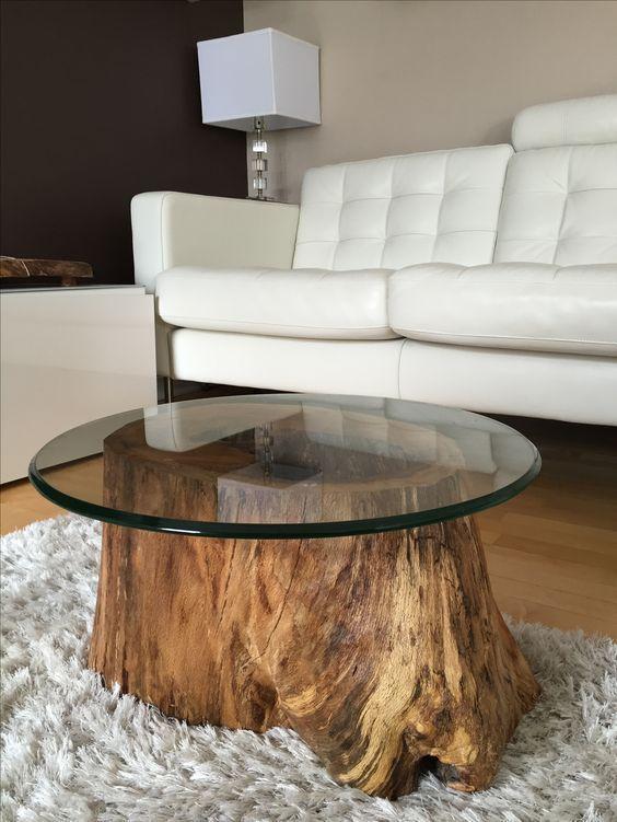 10 coole Ideen zum Selbermachen, Tische aus Baumstämmen bauen! – Bastelei