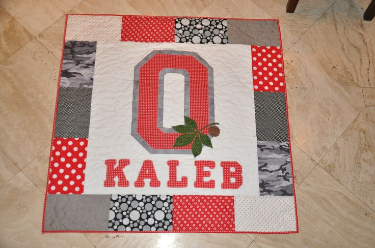 Ohio State Baby Quilt. I will be making this when my brother has kids