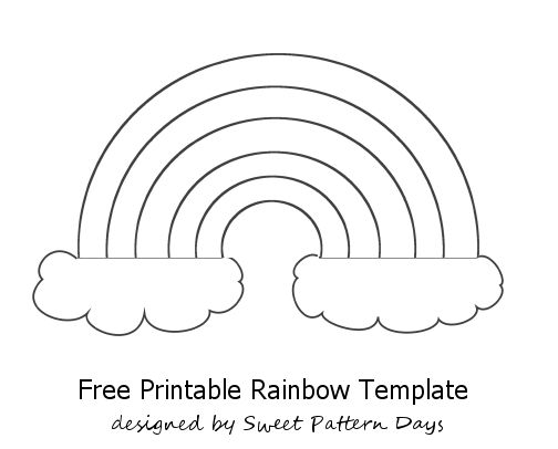 Rainbow Template Printable