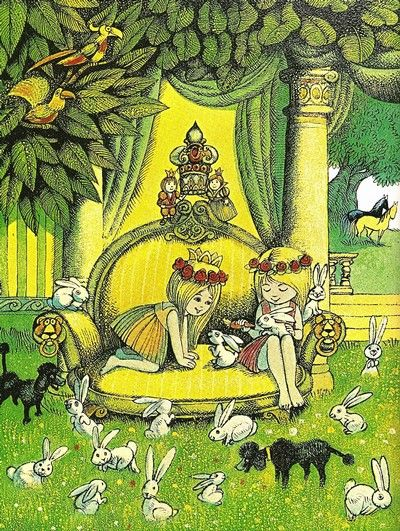 Hans Arnold illustration to Astrid Lindgren: Allrakäraste syster