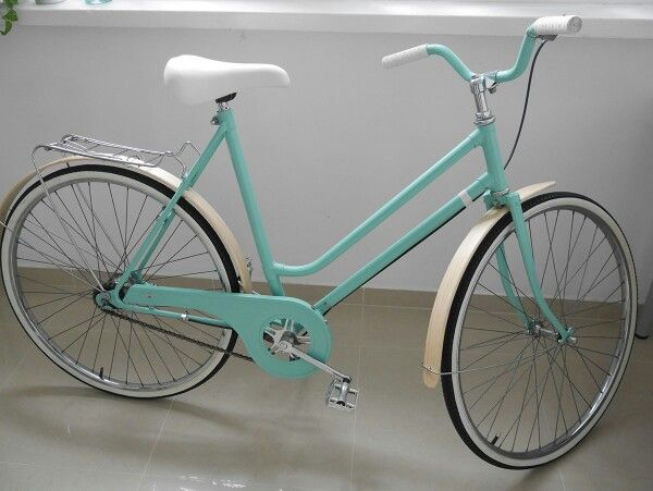 Mint bike with solid wood fenders