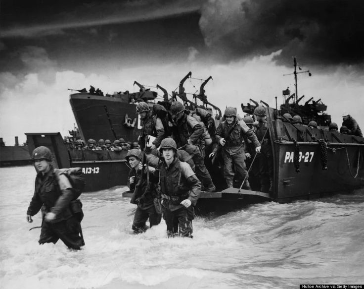 """On June 6, 1944, wave upon wave of American, British and Canadian forces landed on the shores of Nazi-occupied France, in a surprise sea and air assault. Known historically as D-Day, the invasion of Normandy included at least 5,000 ships, 11,000 airplanes, and 150,000 service men. General Dwight D. Eisenhower called the operation a crusade in which """"we will accept nothing less than full victory."""""""