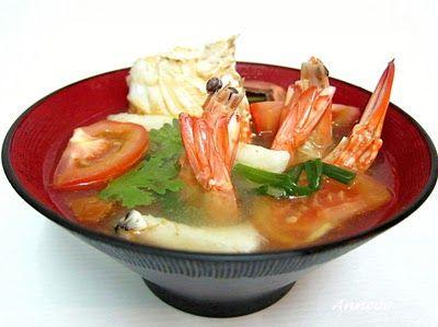 Meeresfrüchte Suppe 海鲜 汤