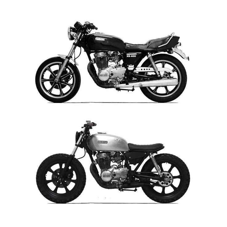 Before and After #xs400 #yamaha #beforeandafter #motorcycle #custom #built #yamahacaferacers #brat #scrambler #style #caferacer #steel #yardbuilt #fastersons #BMCO
