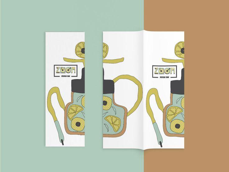 archventil - brand identity - graphics and illustration - hookah bar - zoom - yellow-mint-orange-black- menu - list