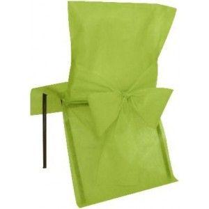 Housse de chaise intissé vert amande avec noeuds intissé vert amande, déco de chaises, mariage, fêtes, anniversaire, table festive. http://www.baiskadreams.com/389-housses-de-chaise-vert-amande-intisse-les-10.html