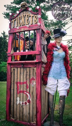 Build a vintage ticket booth to set the scene. | 17 Things For An American Horror Story Freak Show Halloween Party