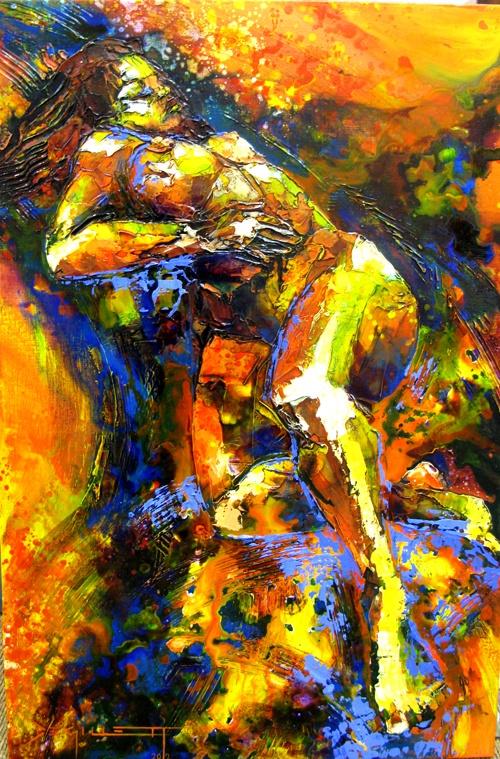 """Painting by De Gillett """"Colour & Motion"""""""