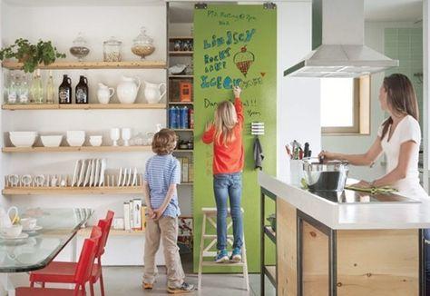 Dar una función a las paredes: pizarra, magnética o borrable - Bricolaje - DecoEstilo.com