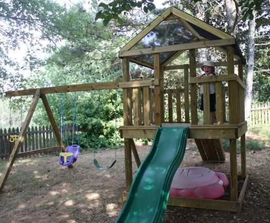How to build your own swing set woodworking projects plans for Build your own wooden playset