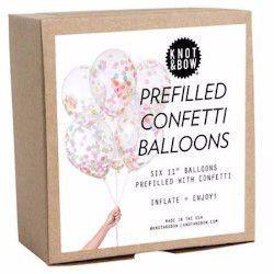 Multicolor Pre-Filled Confetti Balloons