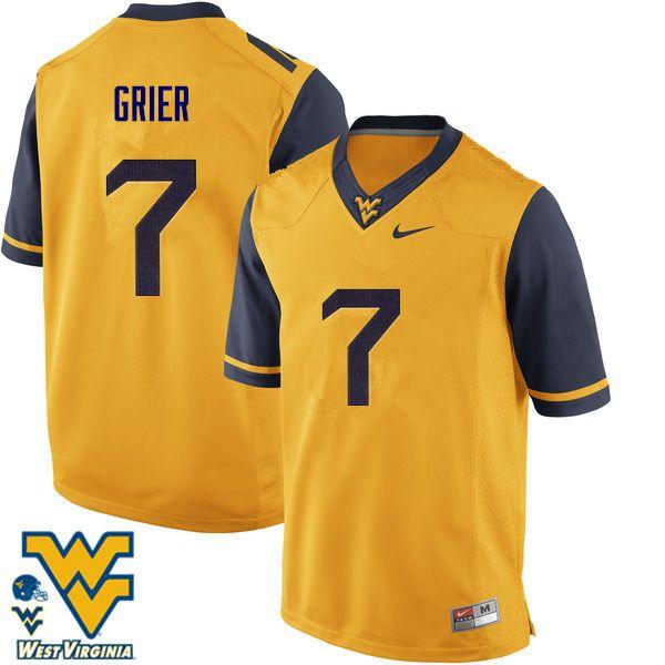 Men  7 Will Grier West Virginia Mountaineers College Football Jerseys-Gold 8dc55d1a2