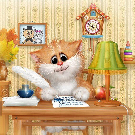 Для сестры, картинки коты долотова