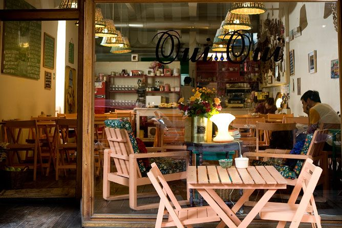 Oui Oui- charming, quaint, cozy, etc. all words to describe this Palermo cafe- perfect for brunch- always busy (expect to wait) but definitely worth it for the French inspired menu on fresh, homemade baked goods.