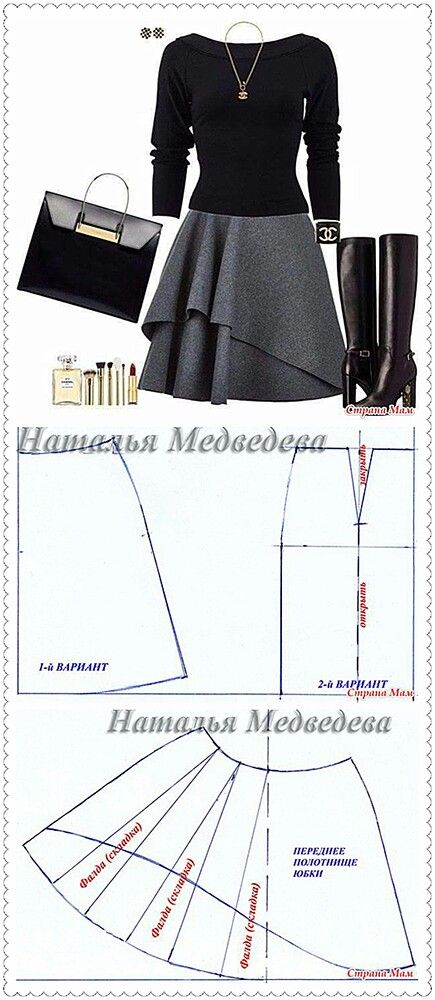 Layered circle skirt pattern drafting                                                                                                                                                     More