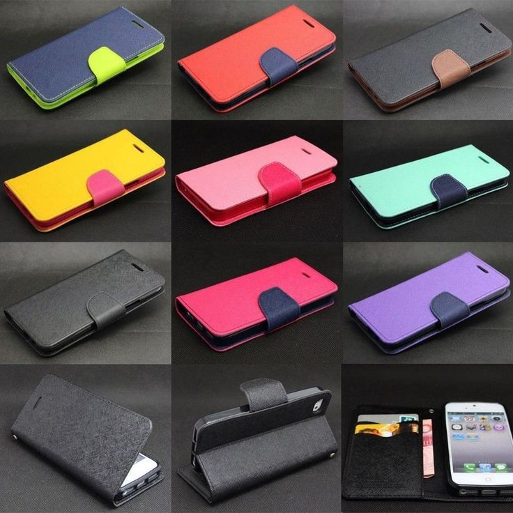 Dual Color Deluxe Wallet Leather Flip TPU Case Stand For iPhone 4S 5S 6 / 6 Plus #UnbrandedGeneric #shoptheworld
