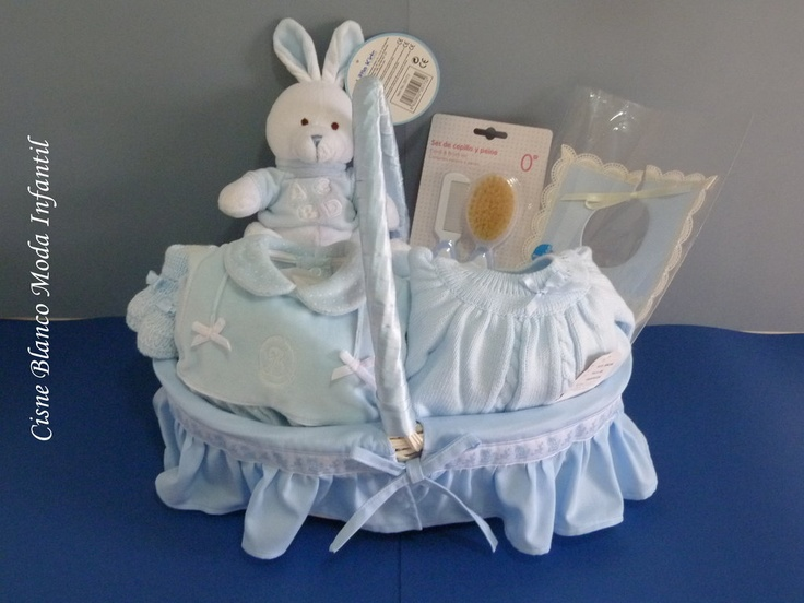 Canastilla artesanal 7 art. Ref. 001 cisne blanco moda infantil