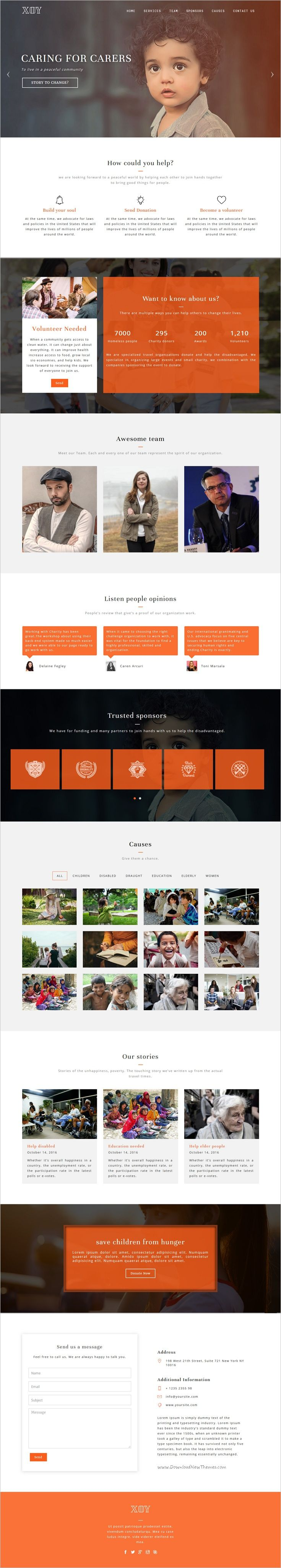 Xoy is a professional and modern one page #bootstrap #HTML template for #charity #NGO #organization multipurpose website with 8+ homepage layouts download now➩  https://themeforest.net/item/xoy-multipurpose-html5-template/18890010?ref=Datasata