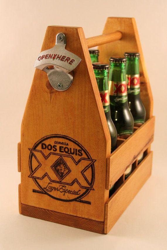 Carrito de madera cerveza Dos Equis