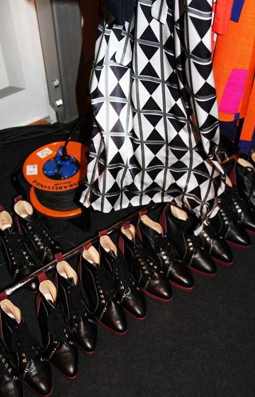 Climber boot in Marimekko AW 13 Fashion show. (Photo credits: Marimekko)