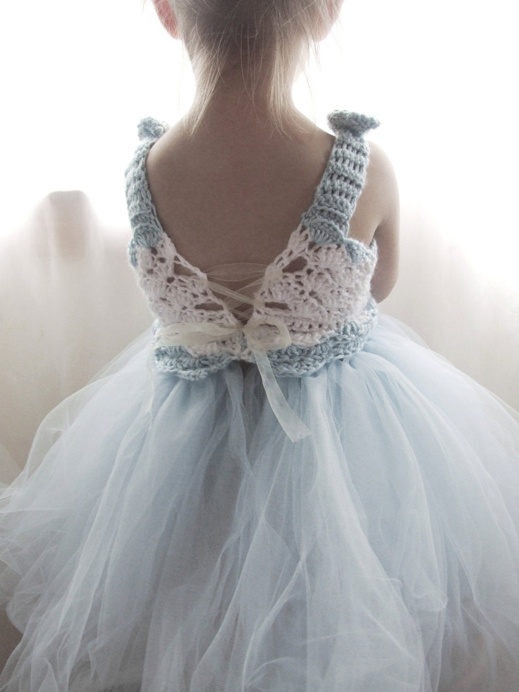Flower Girl Tutu Dress Crochet Bodice Photography by KingSoleil