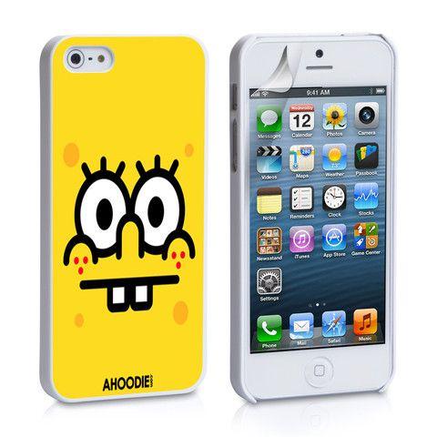 Spongebob Face iPhone 4, 4S, 5, 5C, 5S Samsung Galaxy S2, S3, S4 Case