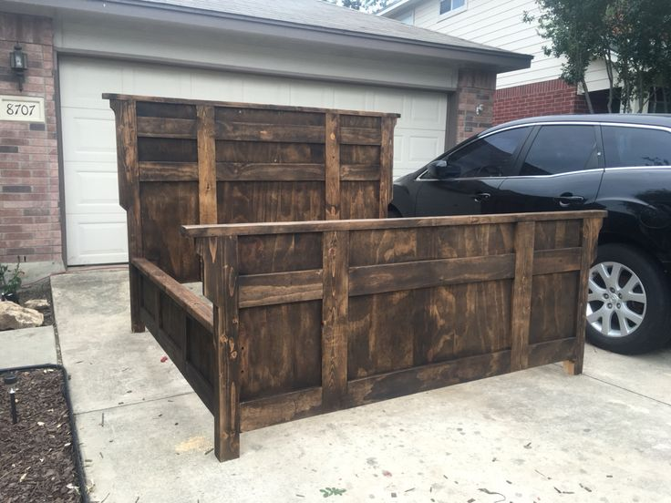 my rustic king size bed frame - Wood King Size Bed Frame