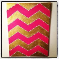 Easy DIY chevron wall art