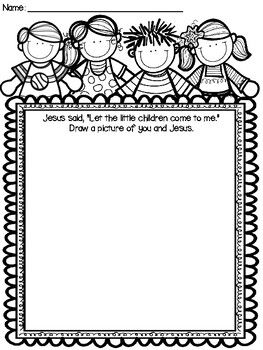 Jesus loves the little children craft and color sheet