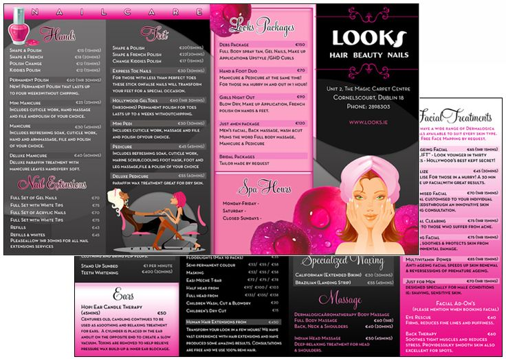 Dublin Spa Brochure Design Beauty Massage Busines Pinterest - spa brochure