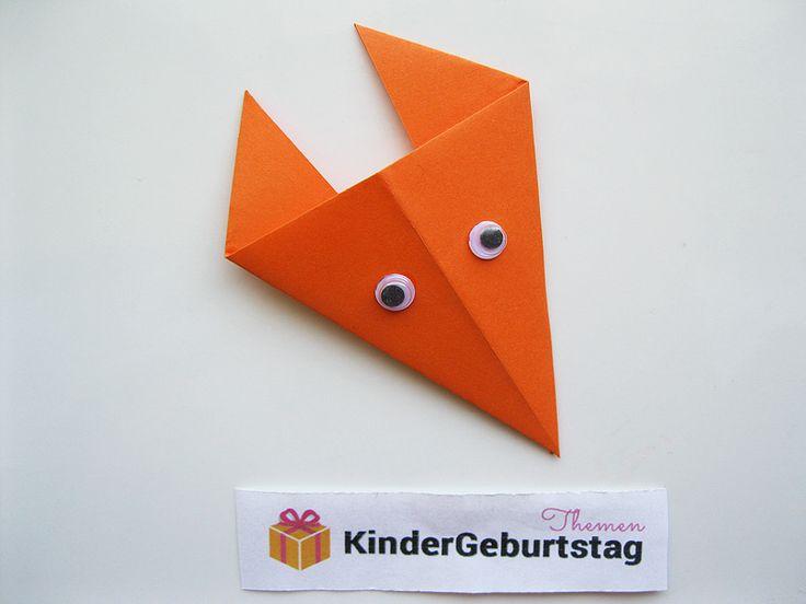 Fuchs basteln: Anleitung für Origami Fuchs