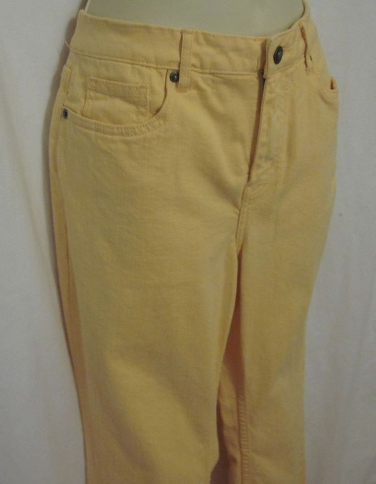 """Coldwater Creek Petites 6 6P Yellow Jeans Pants Womens 28"""" Inseam Classic Fit"""