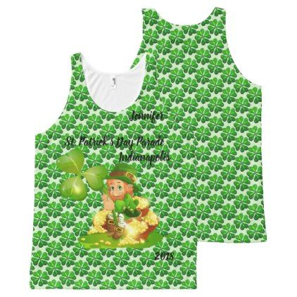 St. Patrick's Day Parade YOUR NAME & CITY & YEAR All-Over-Print Tank Top - saint patricks day st patricks holiday ireland irsih special party