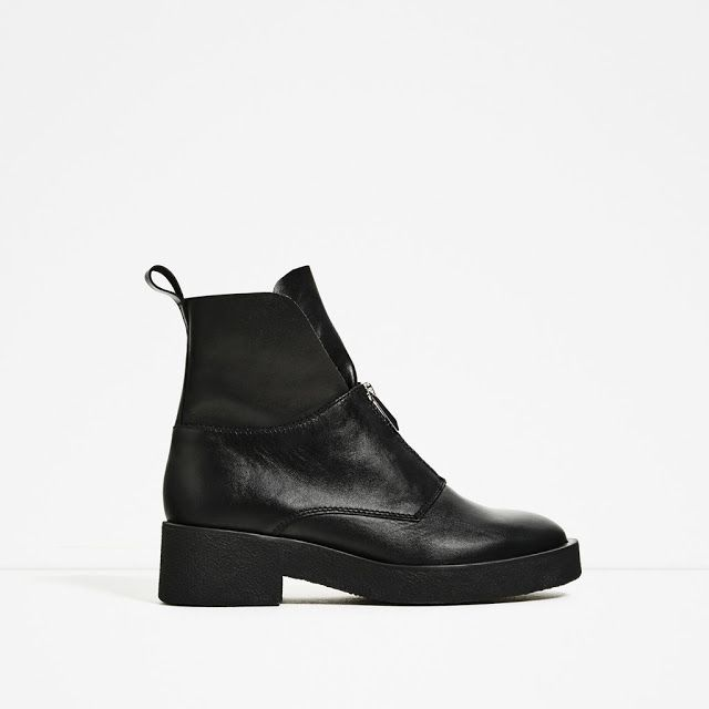LEATHER ANKLE BOOTS WITH ZIP - THE PICKY FASHION