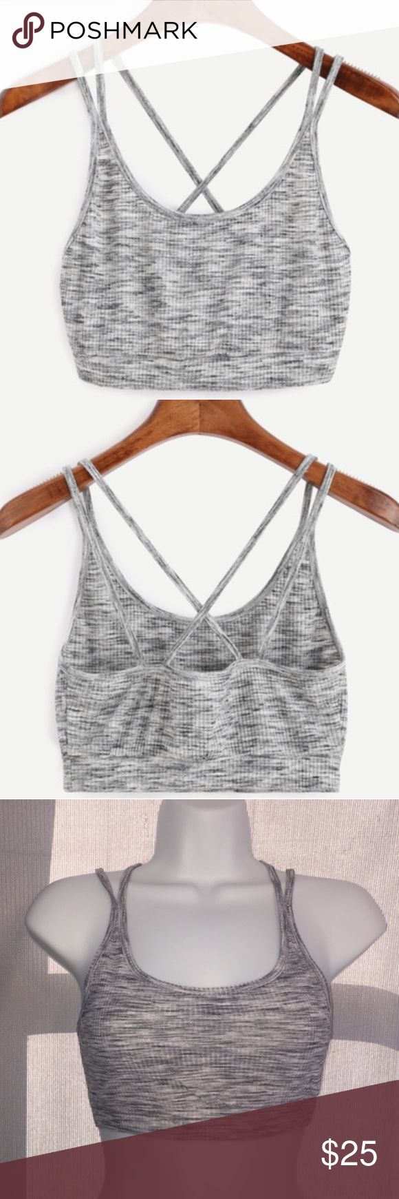 🍂Grey sports bra🍂 ⭐️Brand New in package  ⭐️ Make sure to check the size chart  ⭐️Also great for a work out  ⭐️Casual💋listed as nasty gal for attention💋 Nasty Gal Intimates & Sleepwear Bras