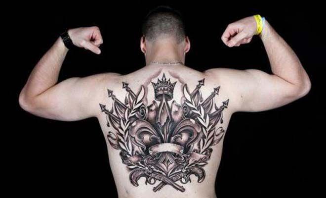 53 best images about fleur de lis on pinterest chest tattoos for women female chest tattoo - Tattoo tribal fleur ...