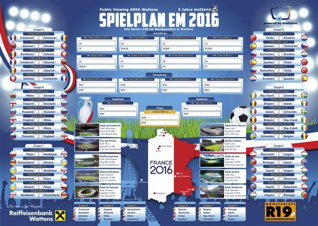 Der EM Spielplan