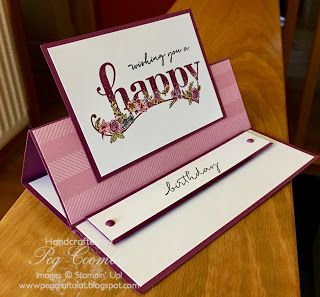 Stampin Up Demonstrator UK Pegcraftalot Peg Coombes: Happy Wishes from Sale a Bration Stampin' Up!
