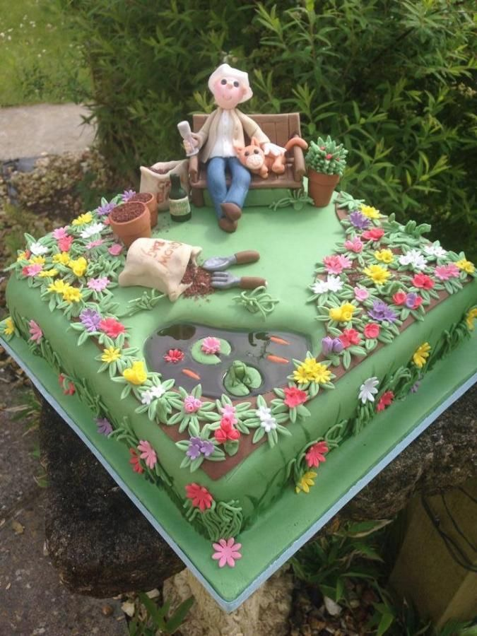 Garden cake - For all your cake decorating supplies, please visit craftcompany.co.uk