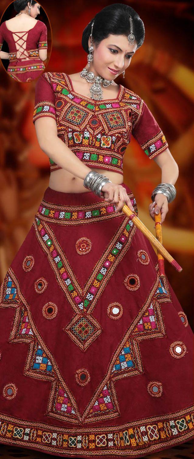 Maroon #Cotton Chaniya #Choli