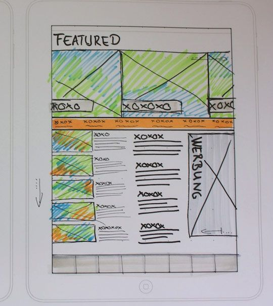 Sketched UI Wireframe Inspiration