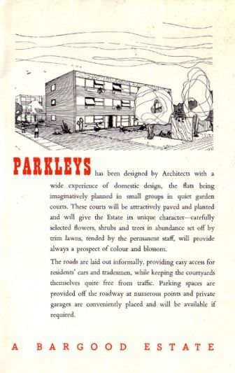 Sales brochure for Parkleys, a SPAN development by Bargood Estates, 1954.