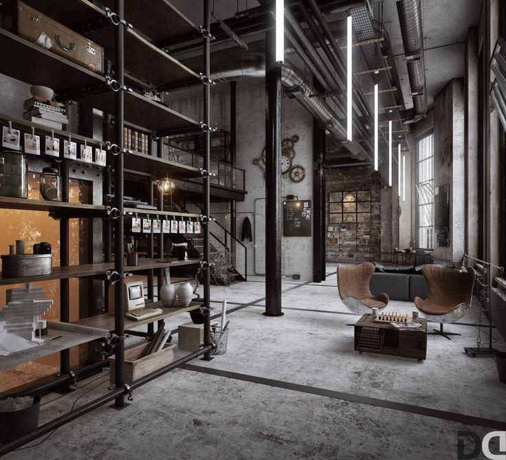 Industrial Home Interior Design: 17 Best Ideas About Garage Loft On Pinterest