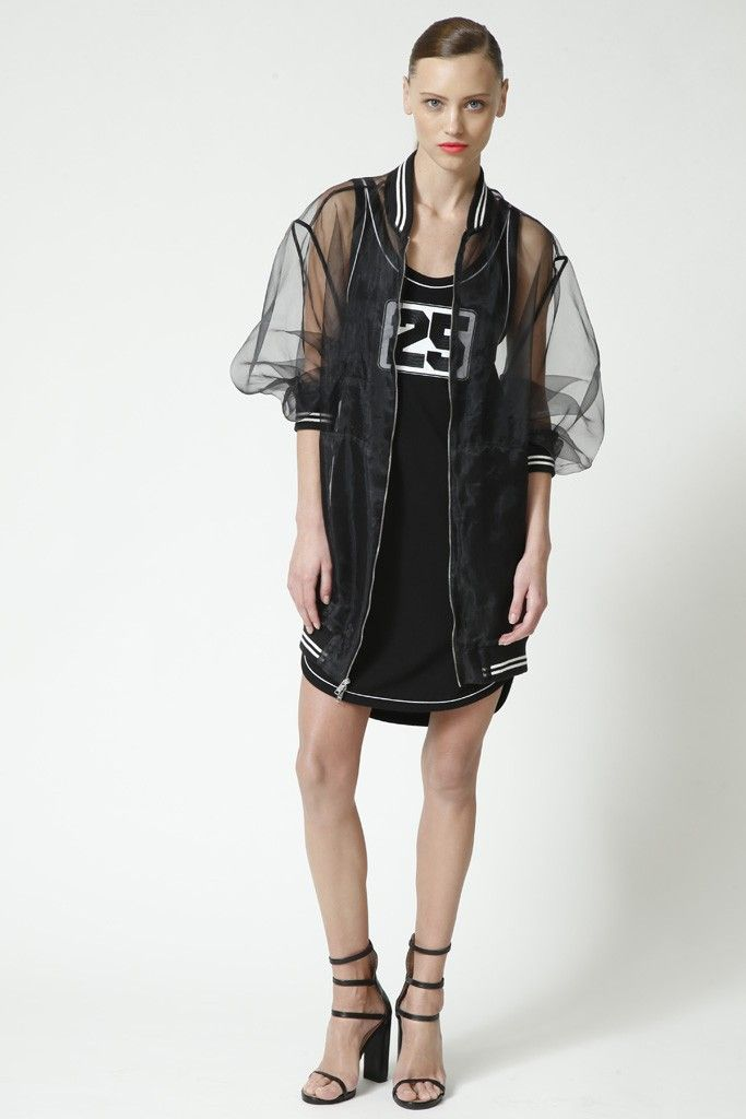 your mesh jacket & forever 21 tank top  DKNY Pre-Fall 2014 - Slideshow - Runway, Fashion Week, Fashion Shows, Reviews and Fashion Images - WWD.com