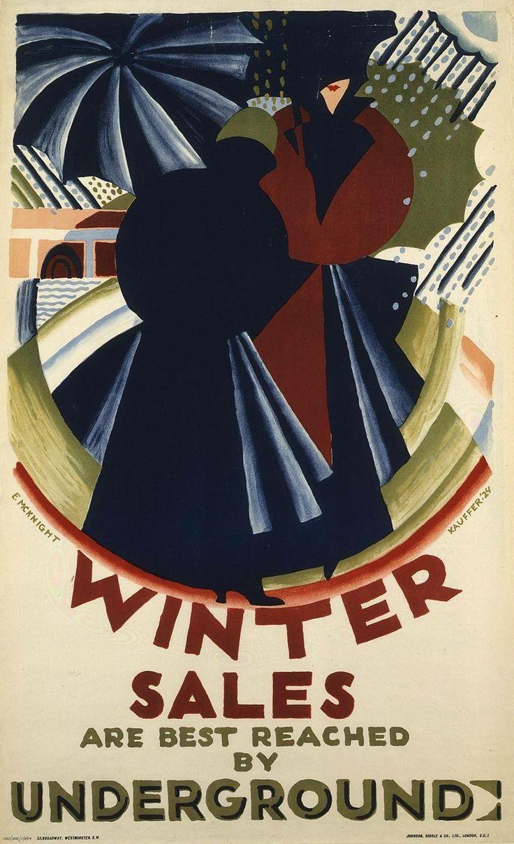 Winter Sales, by Edward McKnight Kauffer, 1924.